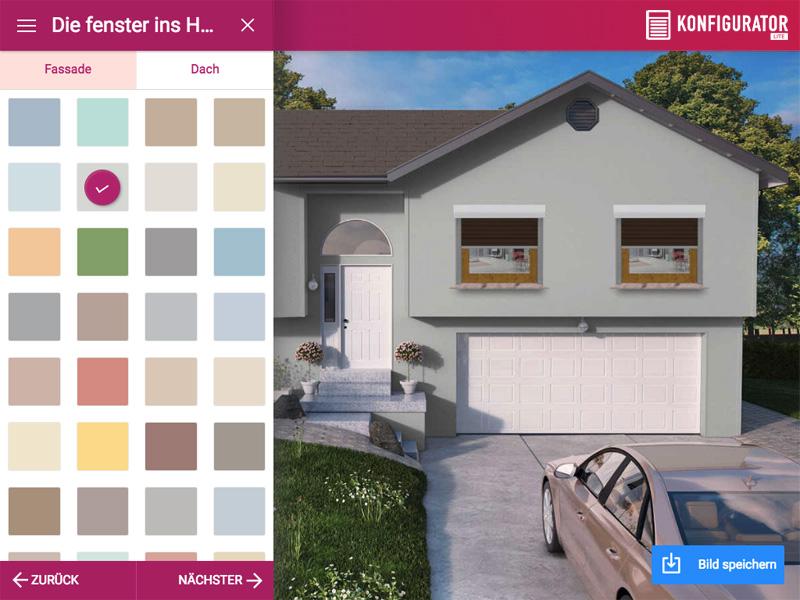 Wählen Sie die Farbe der Fassade und des Daches